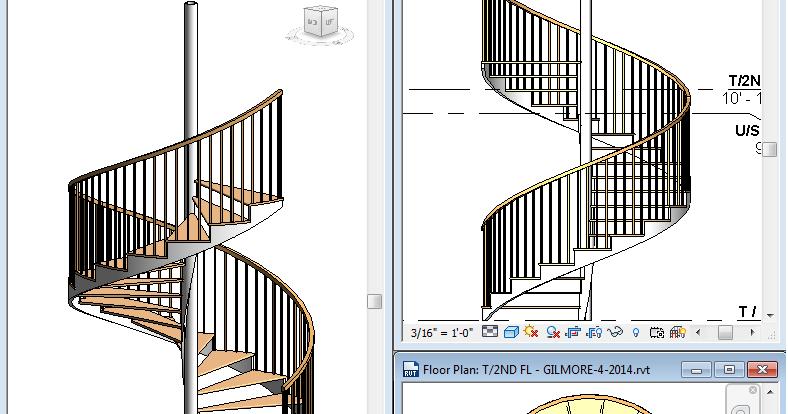 REVIT Rocks !: Can REVIT Create a Decent Spiral Stair