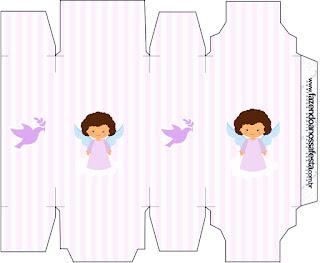 Brunette Angel Girl, Free Printable Box