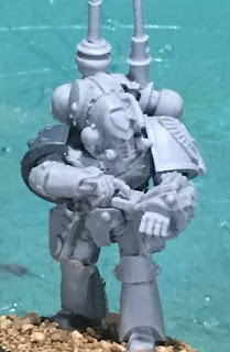 Heresy Era Dark Angels Master of Signals WIP