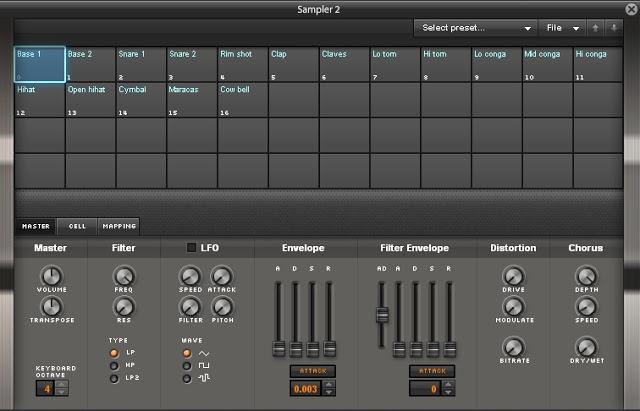Sintetizador FM de AudioSauna