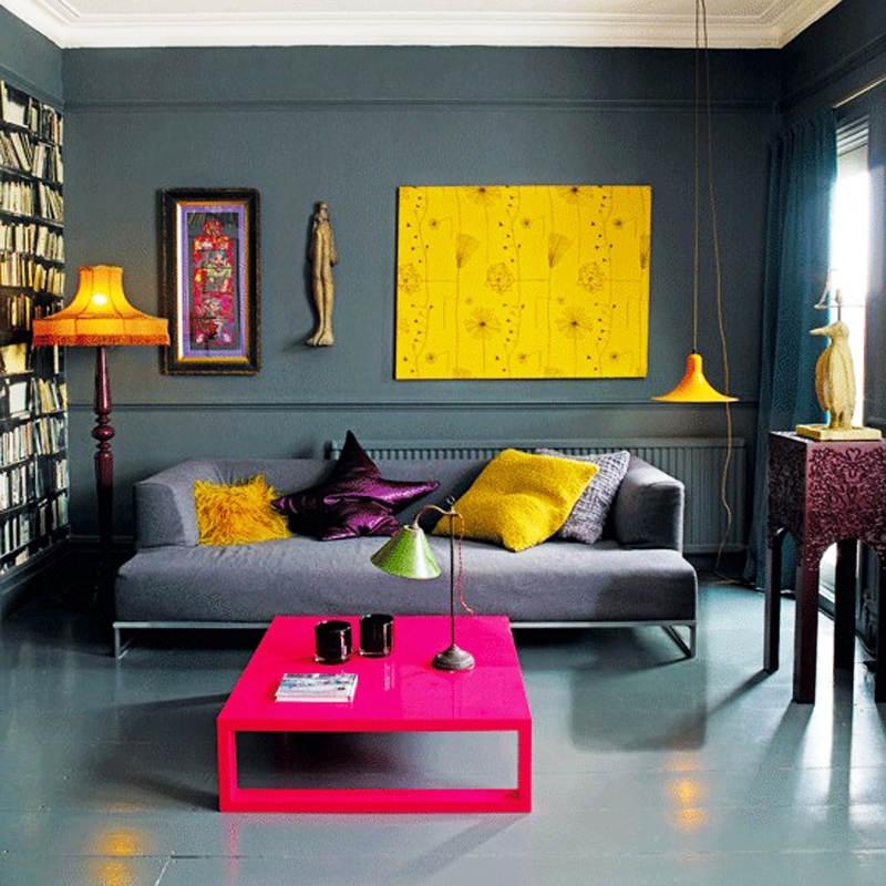 Warna Cat Dinding Ruang Tamu Biru