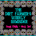 The Dirt Farmer's Weekly Reminder  26th September to 03rd October 2016