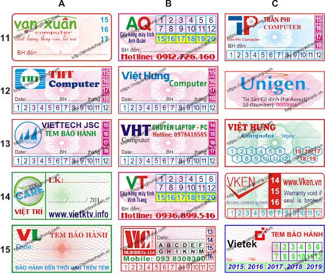 In tem bảo hành chất lượng cao và in phong bì giá rẻ