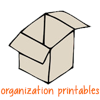 Organizing with Printables