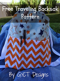 Traveling Backsak Tutorial and Free Pattern from GYCT