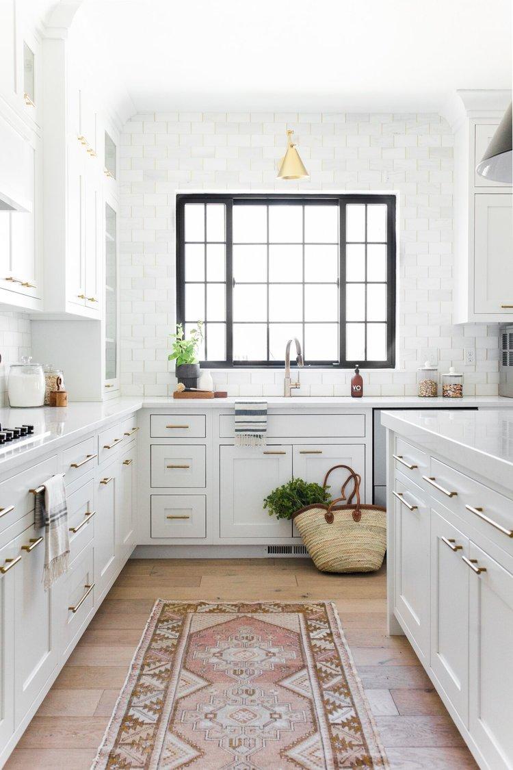 Décor Inspiration: Modern Kitchen Design In White & Brass