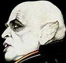 nosferatu--Image from poster for the Werner Herzog movie---Nosferatu the Vampyre---starring Klaus Kinski and Isabelle Adjani. Apologies but I don't know the name of the artist.