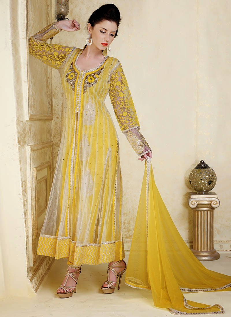 Latest Design Of Assam Type House: Latest Designs Of Anarkali Suits Collection 2013