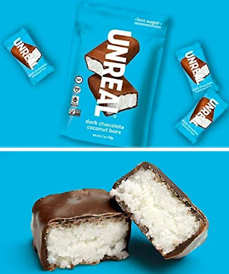 Organic Coconut Chocolate Snacks by UNREAL - All Natural Cassava Syrup Candy Bars