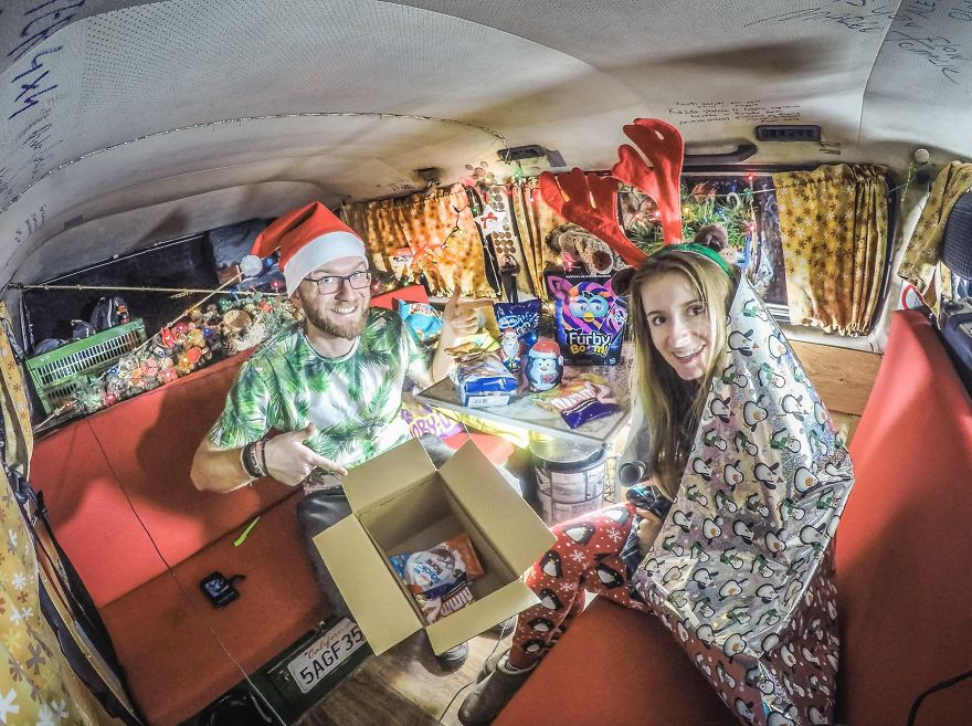And celebrated Christmas in our van - We Visited Over 50 Countries With Our Van Spending Only $8 A Day