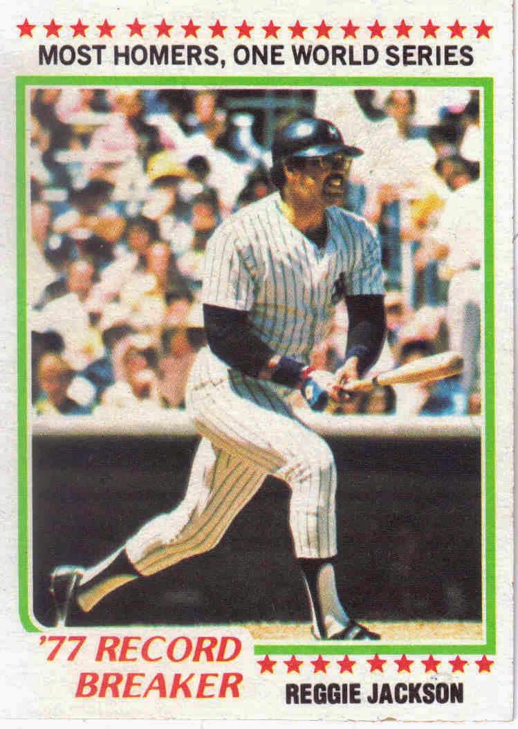 1978 Baseball 1978 Topps Baseball 7 Reggie Jackson 1977