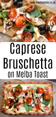 www.foodiequine.co.uk Italian flavours come to the fore in a quick and easy recipe that works equally well as a Summer breakfast, brunch or appetizer. Caprese Bruschetta combines Mozzarella, Tomatoes and Basil atop crunchy Five Grain & Seed Melba Toast drizzled with Balsamic. Bellissimo!