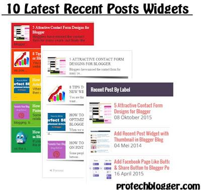 10 Latest Stylish Recent Post Widgets Design for Blogger