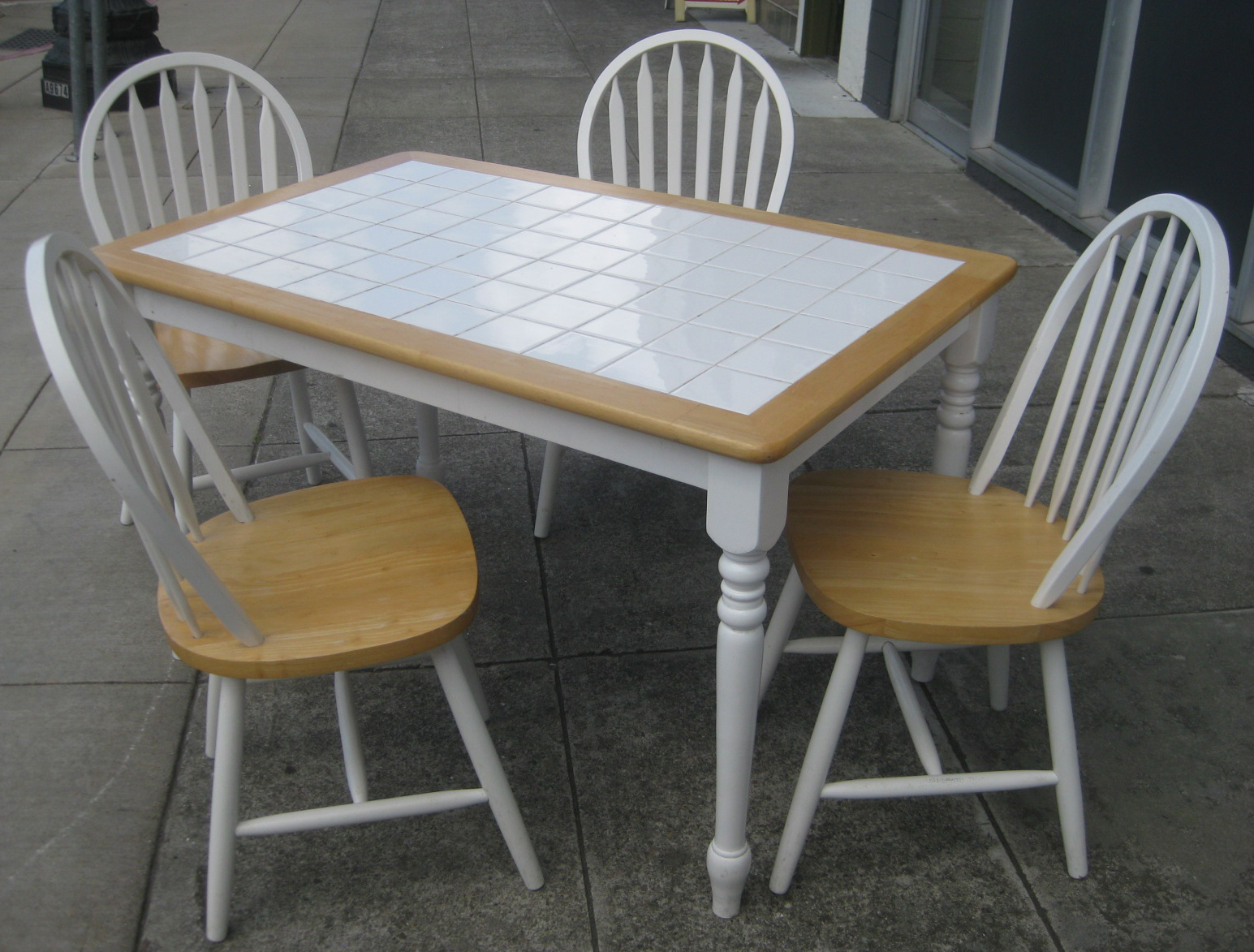 UHURU FURNITURE & COLLECTIBLES SOLD   Tile top Table and ...