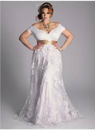 Vestido de noiva simples com renda para gordinhas