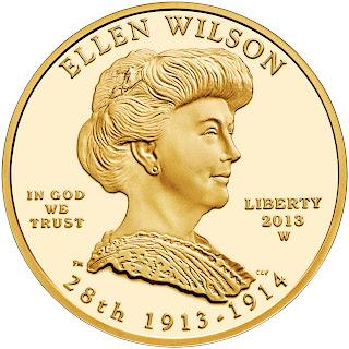US Gold Coins Ellen Wilson 10 Dollars First Spouse Gold Coin
