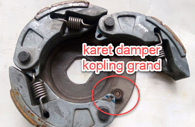 posisi karet damper kopling pcx 150