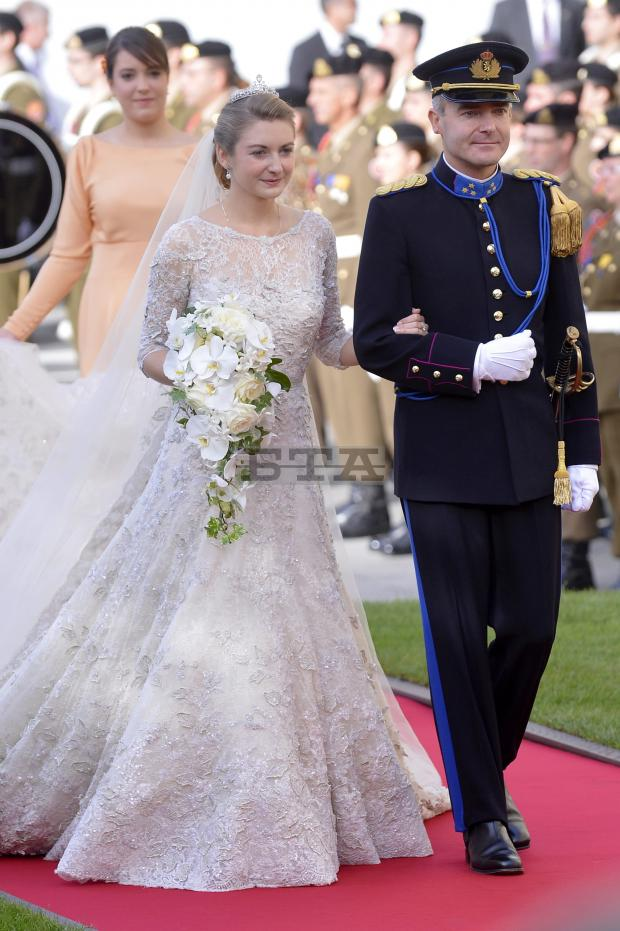 Princess Stéphanie Of Luxembourg Cathedral Wedding Gown And Tiara