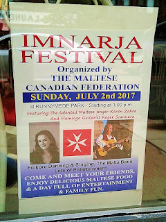 Maltese Imnarja Festival Toronto Sunday, July 2, 2017