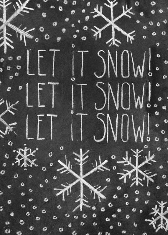 Christmas Chalkboard Art.Let It Snow Christmas Chalkboard Art Xmas Diy Craft