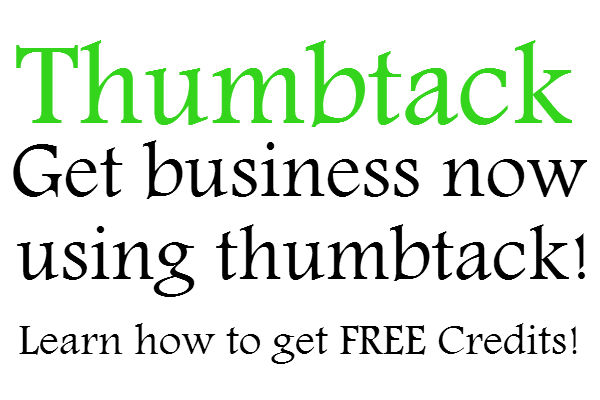 Thumbtack Free Credits, How to use thumbtack, Thumbtack Reviews