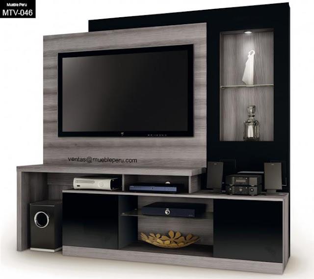 Muebles tv for Muebles para tv en melamina modernos