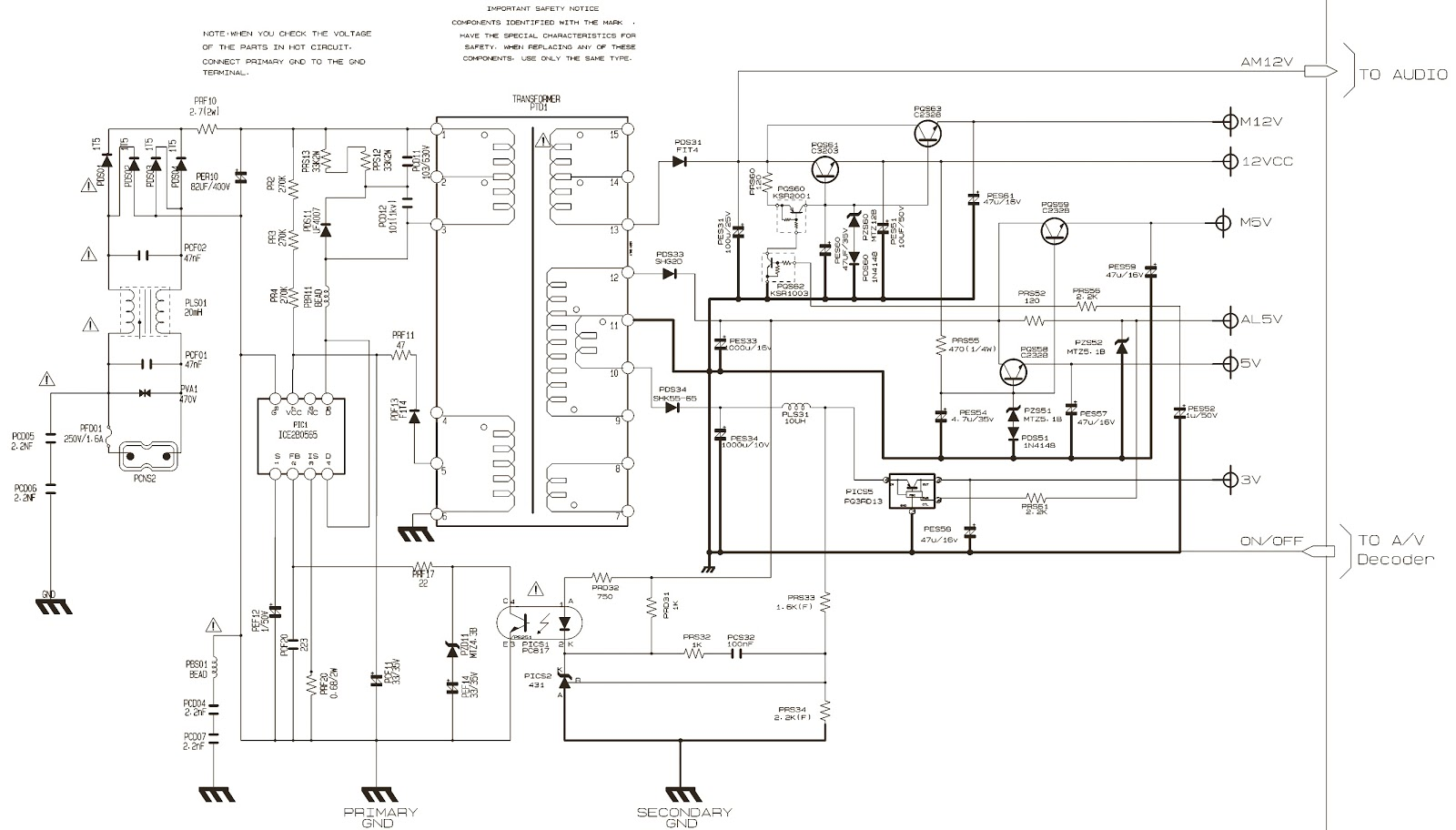 SAMSUNG DVDP244 – EXPLODED VIEW – SMPS CIRCUIT DIAGRAM