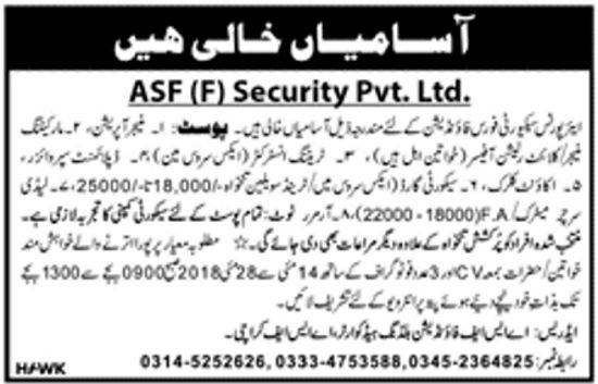 Jobs In ASF Airport Security Force May 2018