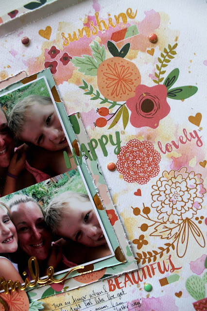 """"""" Smile"""" layout by Bernii Miller for Scrapping Clearly using My Mind Eye on trend 2 collection."""