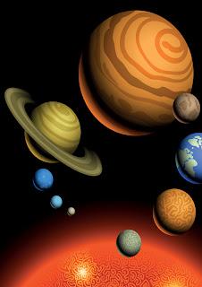 dibujo del sistema solar para imprimir