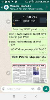 WSKT potensi tutup 1950