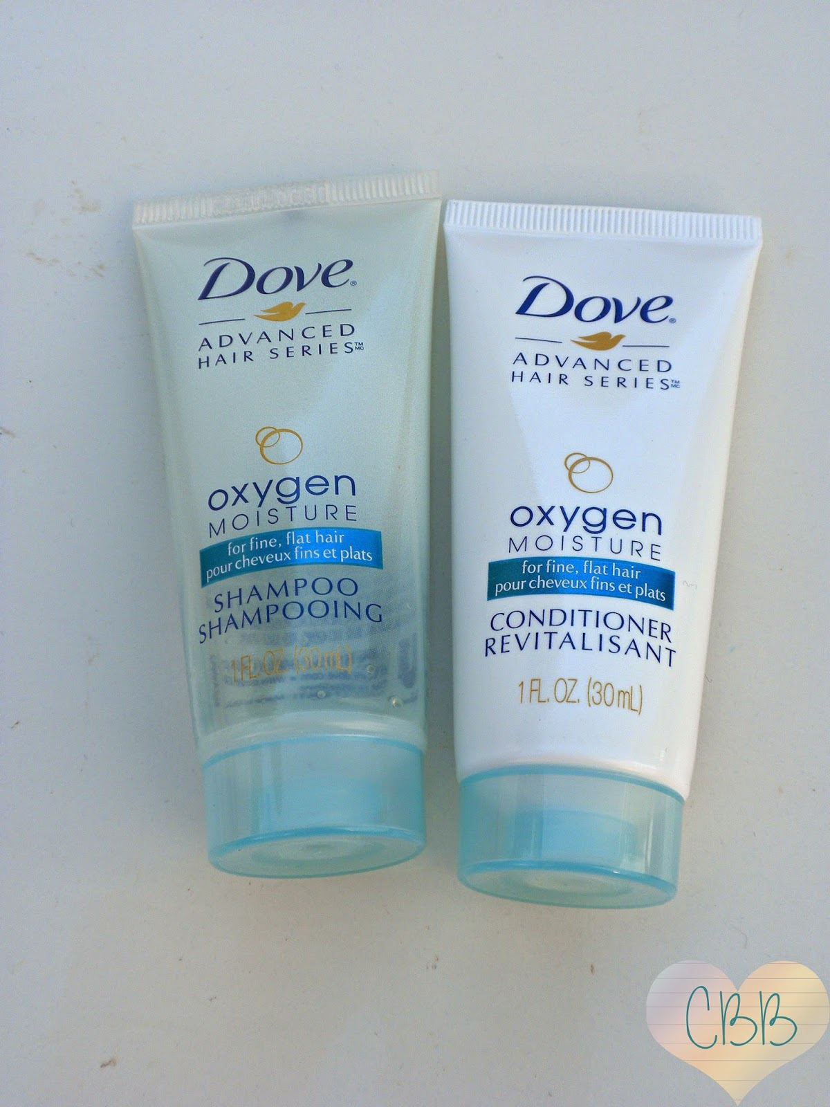 DOVE Oxygen Moisture Shampoo and Conditioner ($5 each for 12oz)