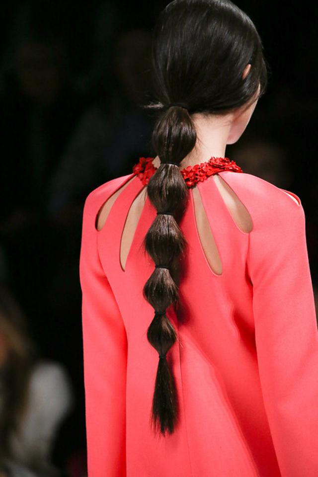coleta burbuja bubble ponytail recogido peinado
