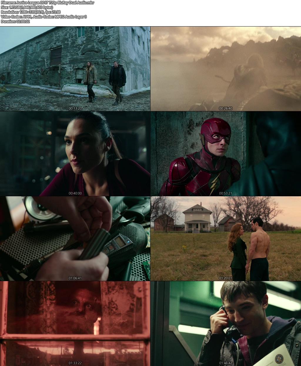 Justice League 2017 720p BluRay Dual Audio 720p | 400MB 480p | 200MB HEVC Screenshot