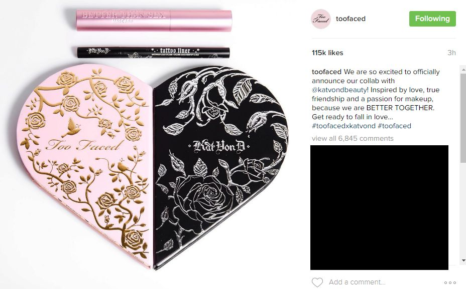 too faced kat von d better together palette