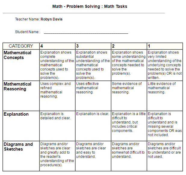 rubric maker template - interventions on the go rubric makers