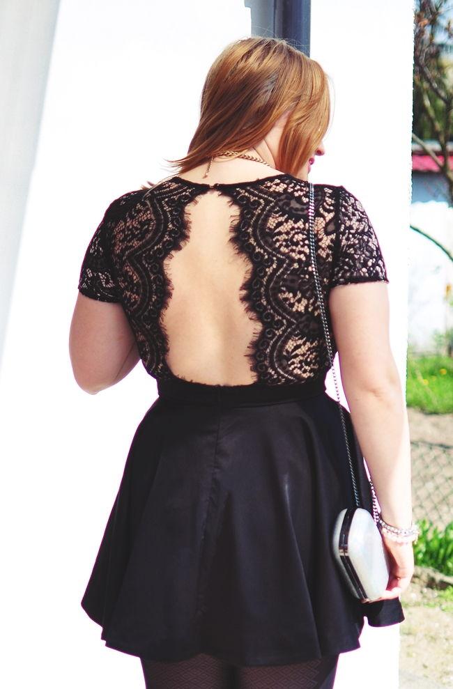 seksowny tył sukienka
