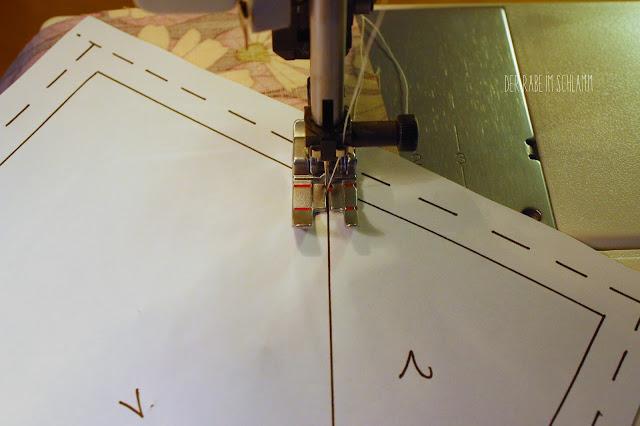 Der Rabe im Schlamm, Tutorial, Anleitung, Nähen, FPP, Foundation Paper Piecing, Tischläufer, Succulence Fabric