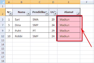 mengelompokkan data di ms excel
