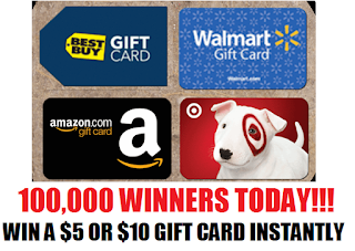Coupons And Freebies: Huge Gift Card Instant Win Giveaway ...