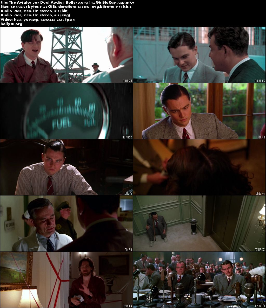 The Aviator 2004 BluRay Hindi 720p Dual Audio 1.3Gb Download