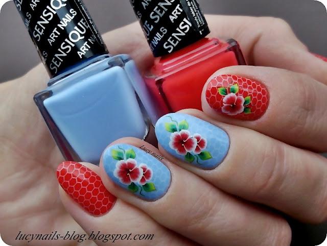 Sensique Art Nails nr 327 Morning Sky i 328 Salmonberry