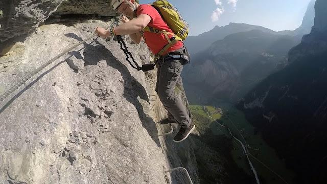 Klettersteig Lauterbrunnen : Via ferrata ft above lauterbrunnen valley swiss alps the