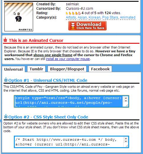 Contoh Cara Menambahkan atau Mengganti Kursor pada Blog dengan Mudah Menggunakan Widget