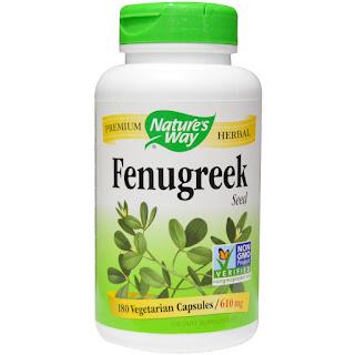 كبسولات بذور الحلبة  Nature's Way, Fenugreek Seed, 610 mg, 180 Veggie Caps