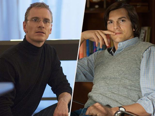 michael fassbender y ashton kutcher interpretan a Steve Jobs en dos versiones de la película
