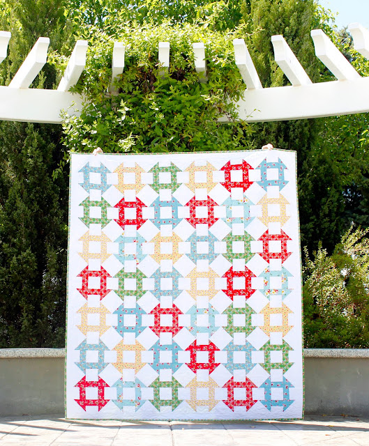 Churn Dash Quilt from A Bright Corner