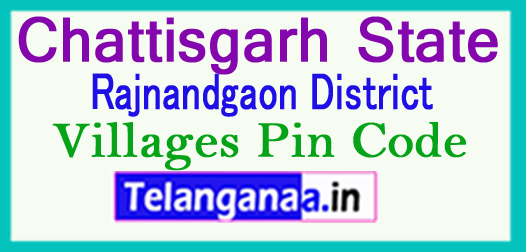Rajnandgaon District Pin Codes in Chattisgarh State