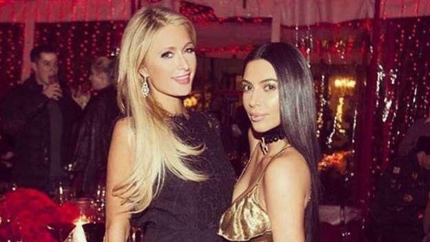 Paris Hilton and Kim Kardashian Reunite at Kardashians' Christmas Eve Party