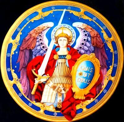 San Miguel de Arcángel en un escudo